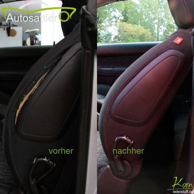 Peugot 206CC airbag in backrest - 206CC airbag in backrest